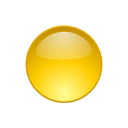 6 Yellow Ball Icon Images