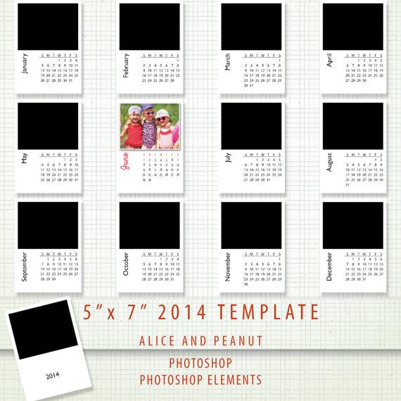 14 2014 Calendar PSD Templates Images