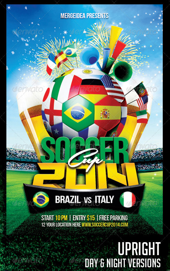 2014 World Cup Flyer Template