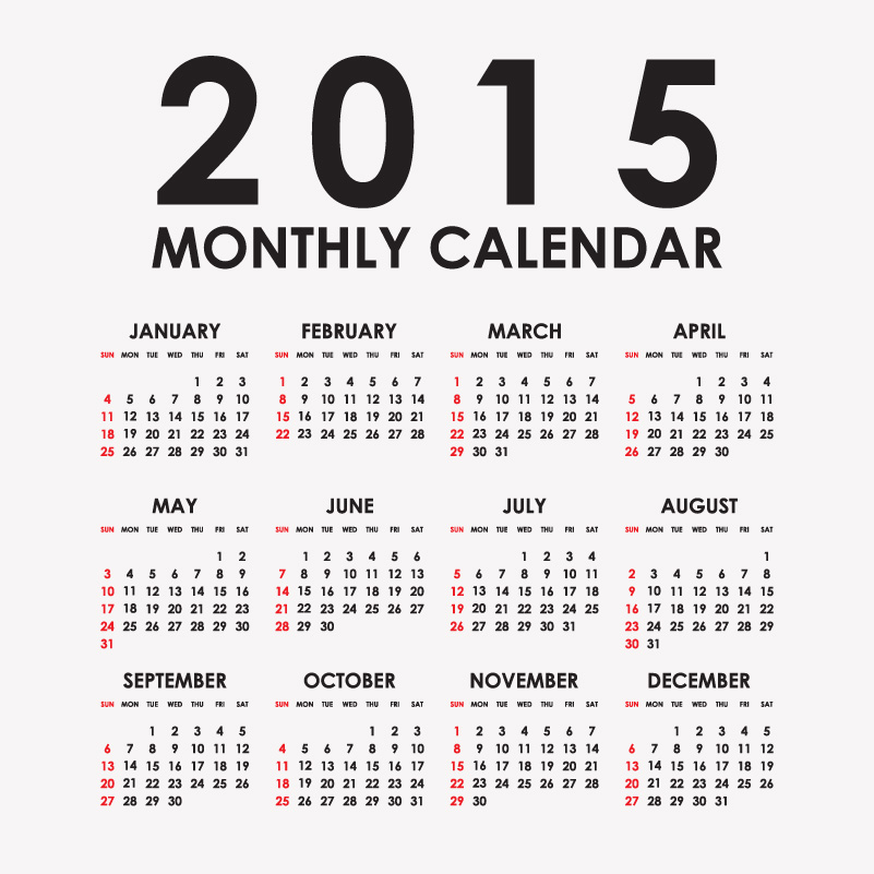 16 2015 Calendar Vector Free Images