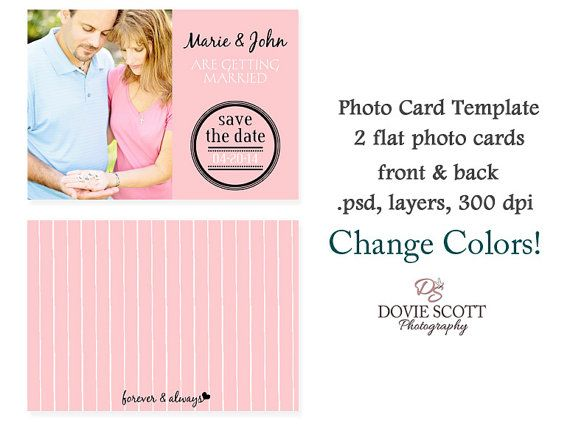 5X7 Photo Card Template