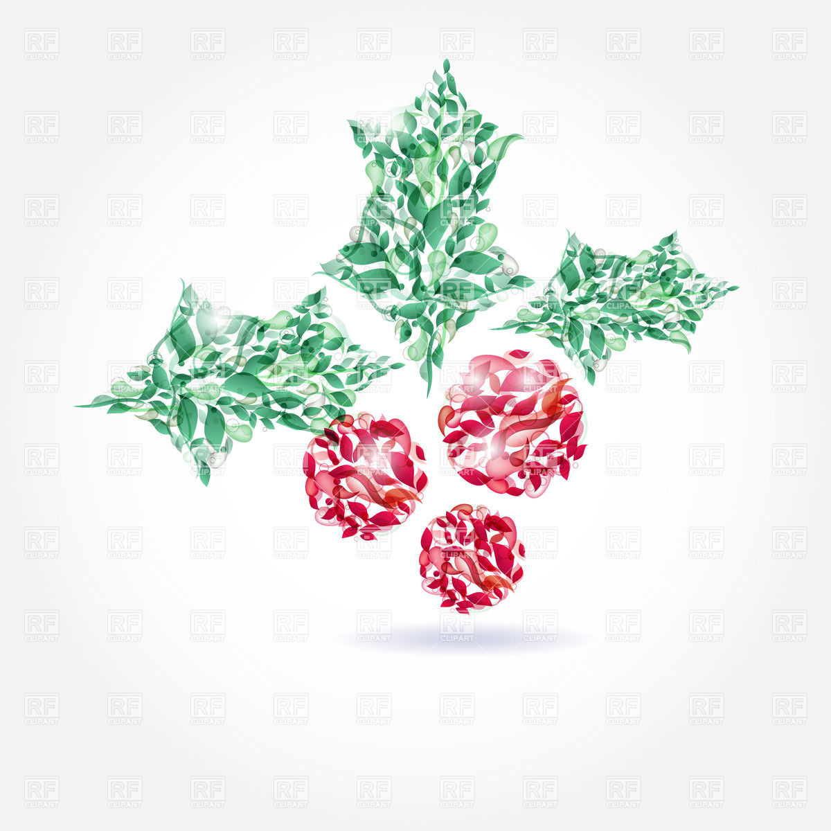 Abstract Vector Clip Art Christmas Decorations