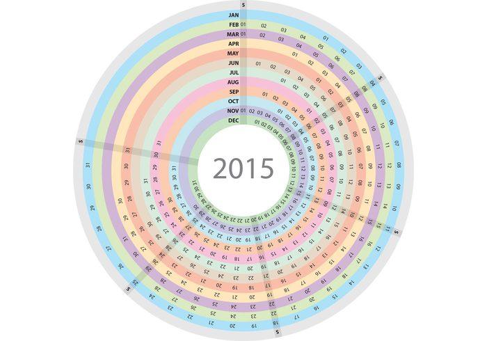Agenda Calendar Free Vector