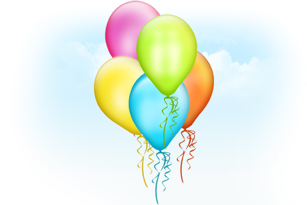 13 Balloons PSD Template Images