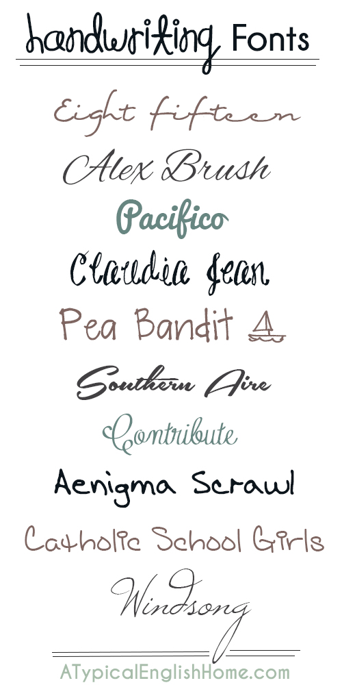 Best Handwriting Fonts Free Download