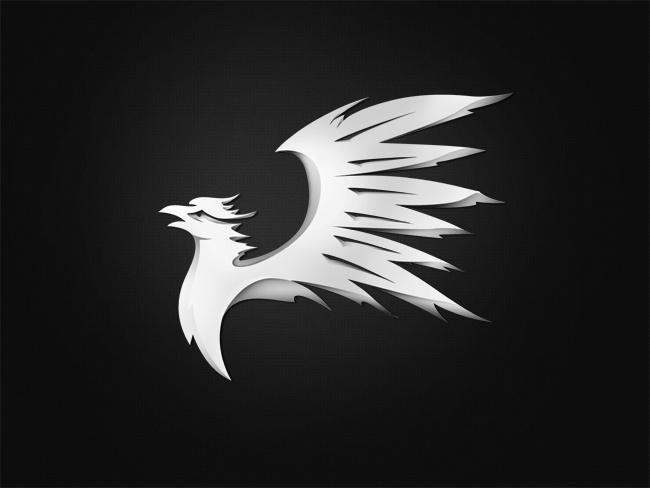 Black and White Eagle Logo Design