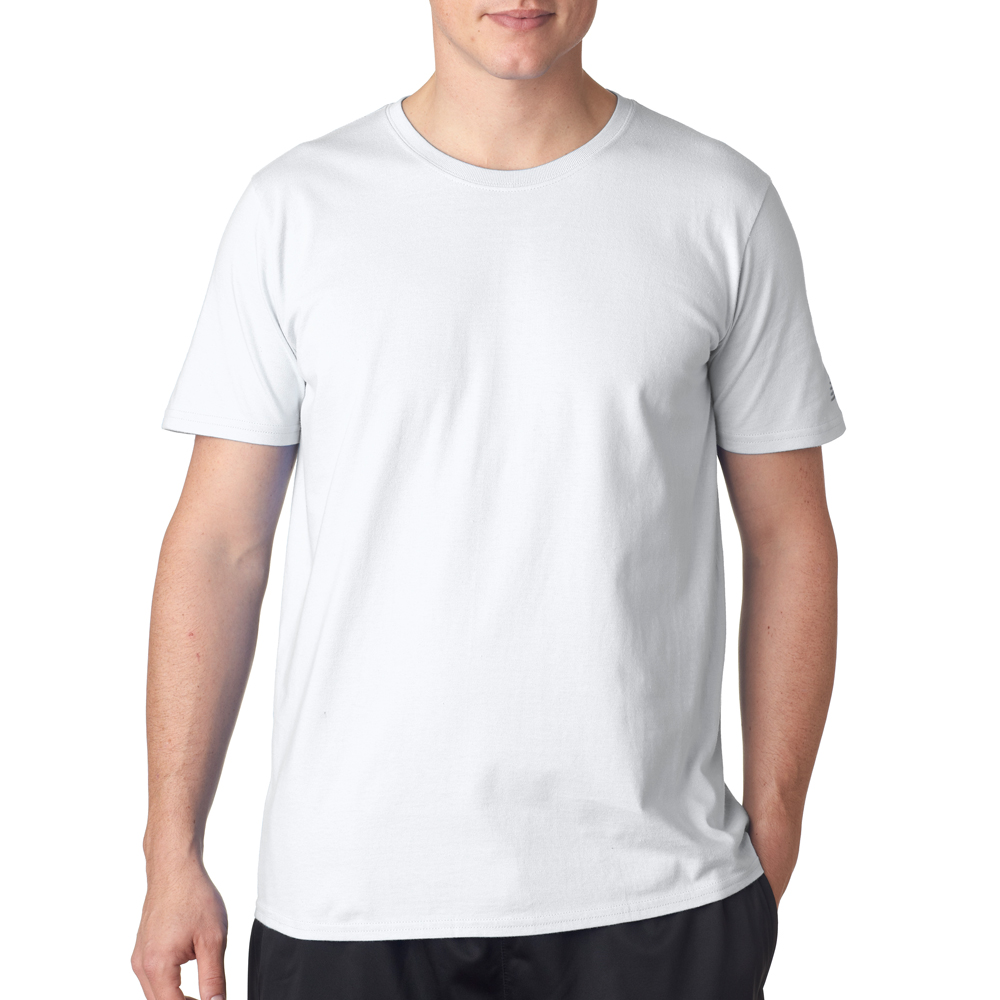 Black Model White T-Shirt Template