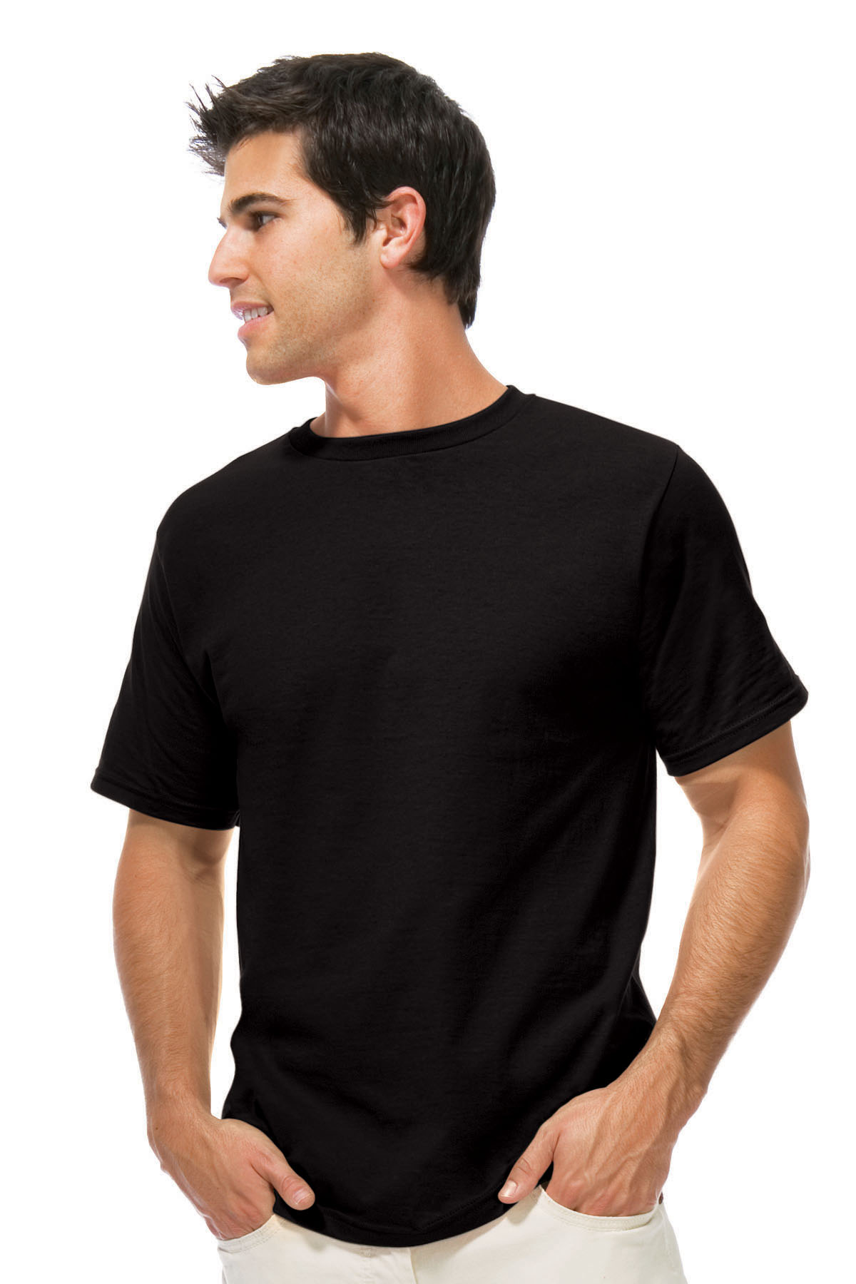 Blank Black T-Shirts Models