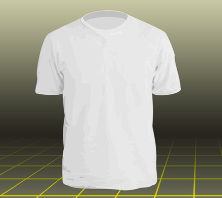 Blank T-Shirt Design Template