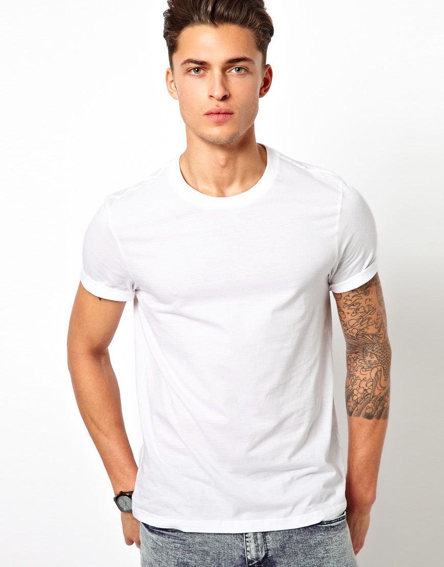Blank White T-Shirt Male Model