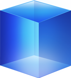 Blue Cube Icon