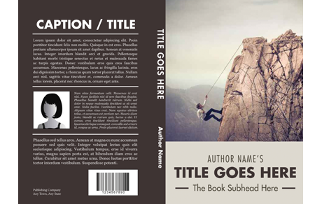 Psd book download template cover