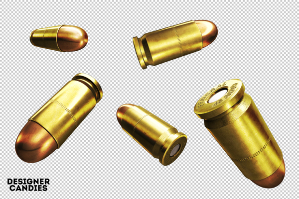 12 PSD Bullets Gold Images