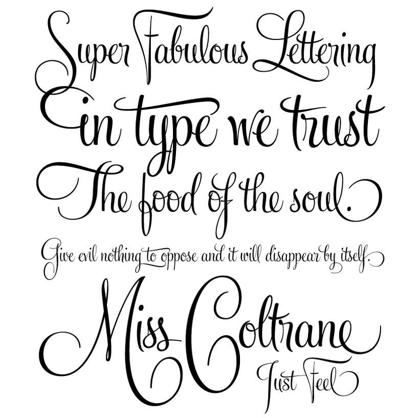 Elegant Handwriting Font Via Calligraphy Tattoo Fonts
