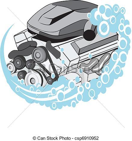 Car Engine Clip Art Vector