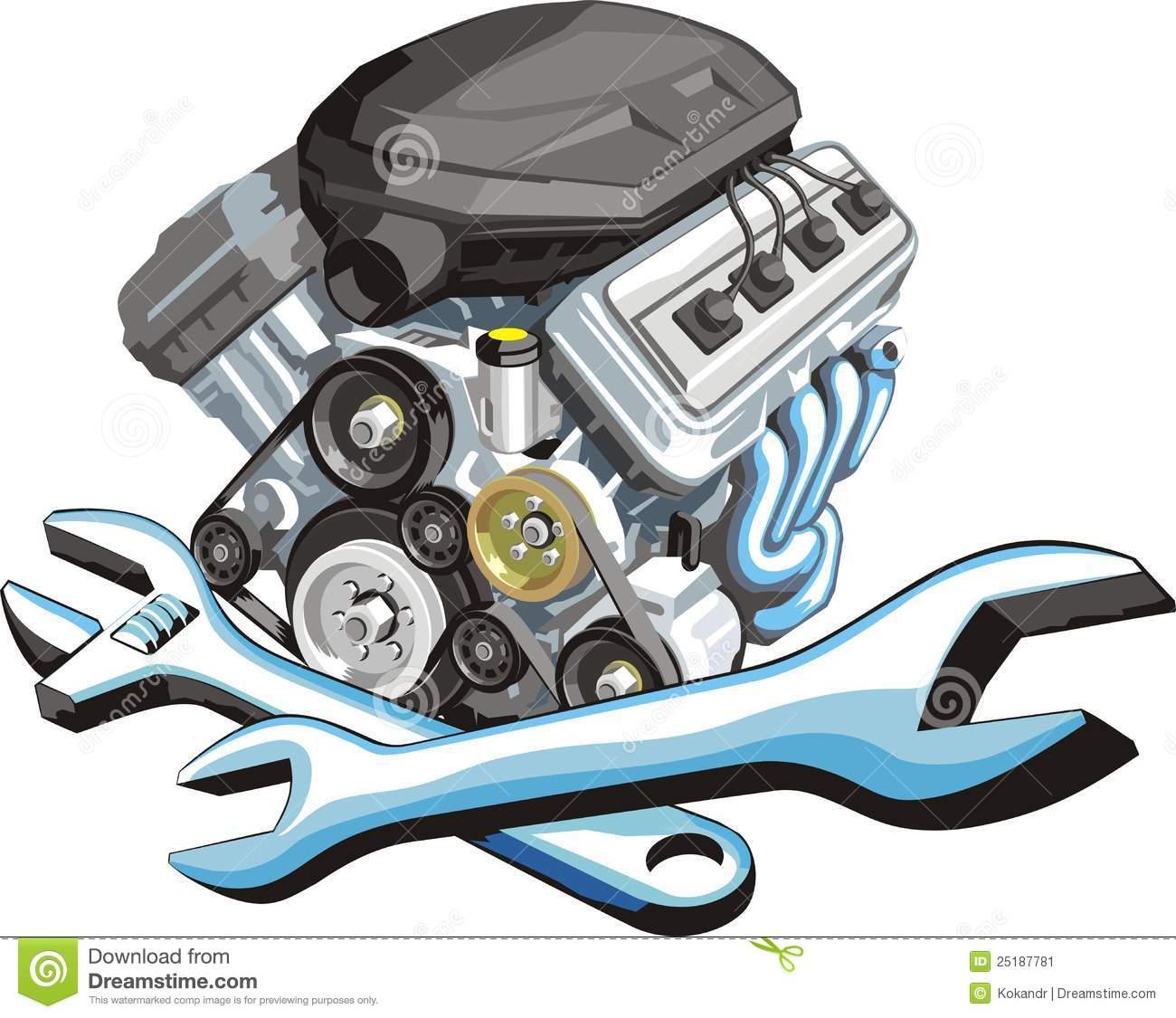 Car Engine Repair Clip Art