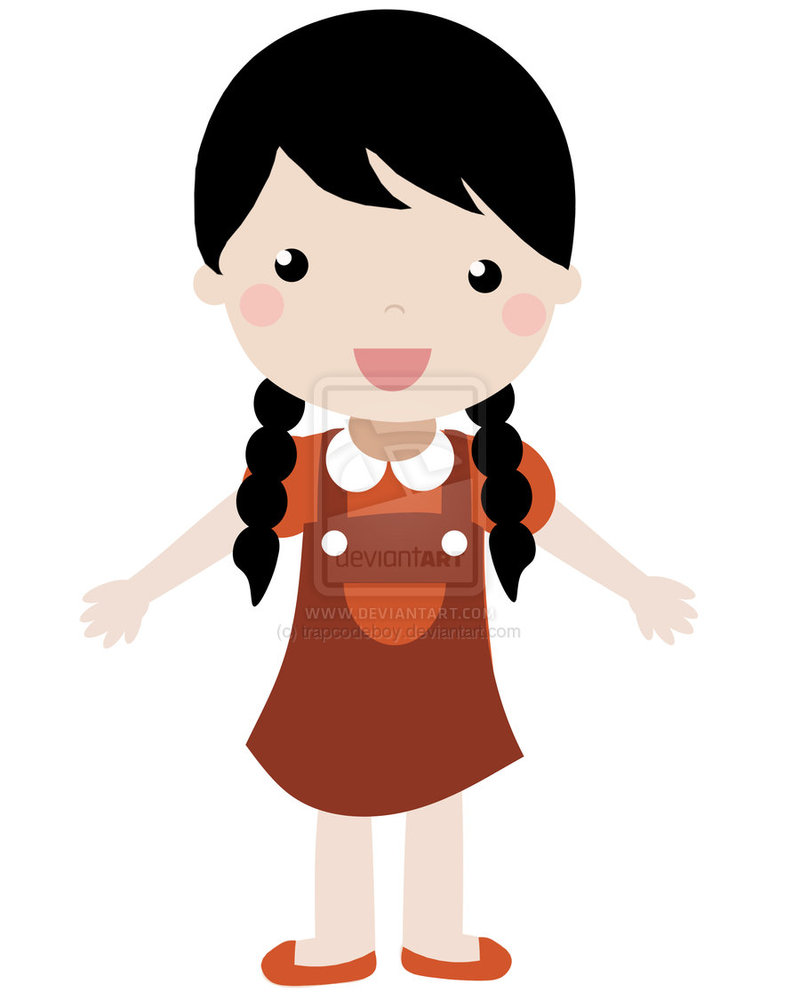 Cartoon Kid Girl