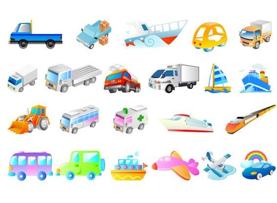 Cartoon Transportation Vehicles