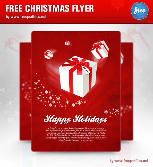 Christmas Holiday Flyer Templates Free