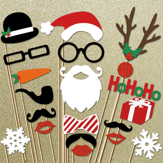 15 Christmas Photo Booth Props Images