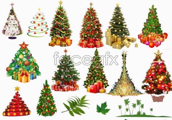 Christmas Photoshop Transparent Trees