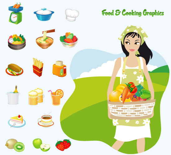 Cooking Food Vector Icons
