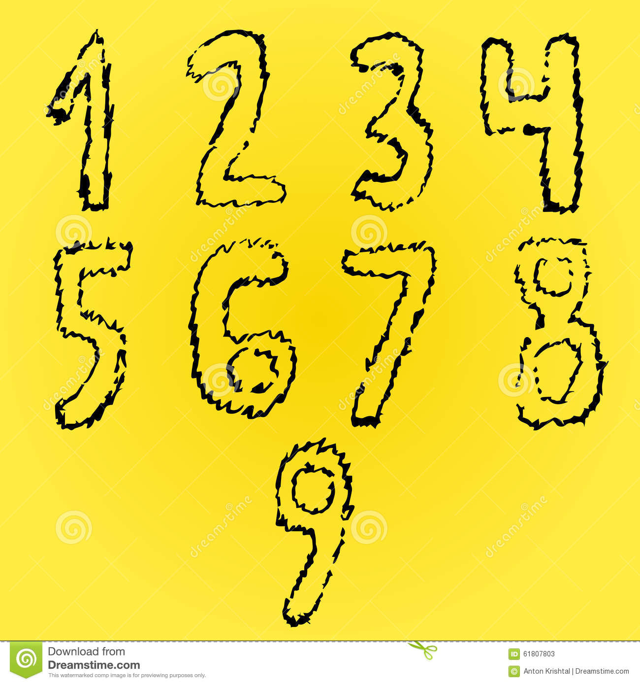Crazy Number Fonts