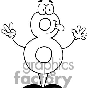 Crazy Numbers Clip Art
