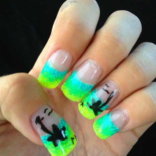 Cute Neon Acrylic Nail Designs