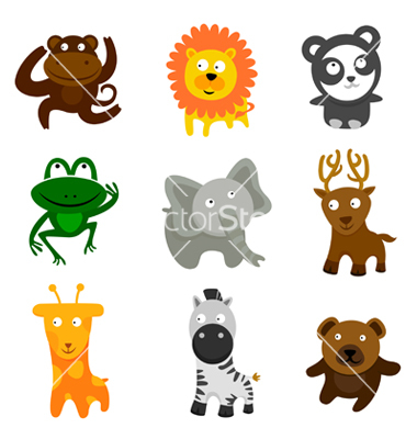 7 Stock Vector Cute Animals Images