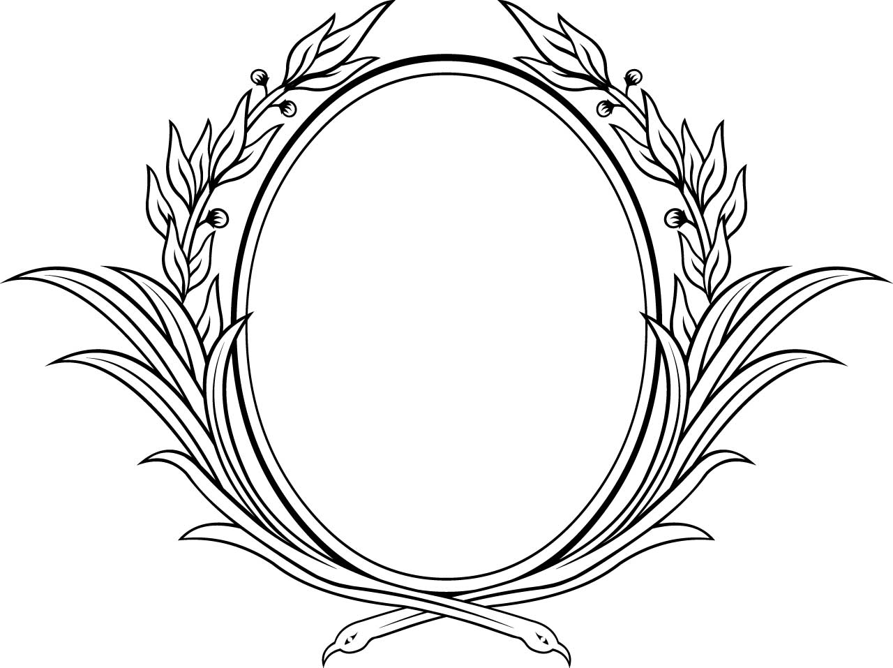 Decorative Floral Frames Vector
