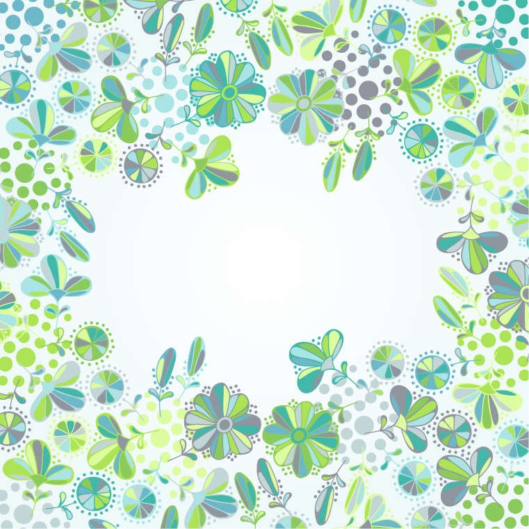 Design Flower Vector Frame