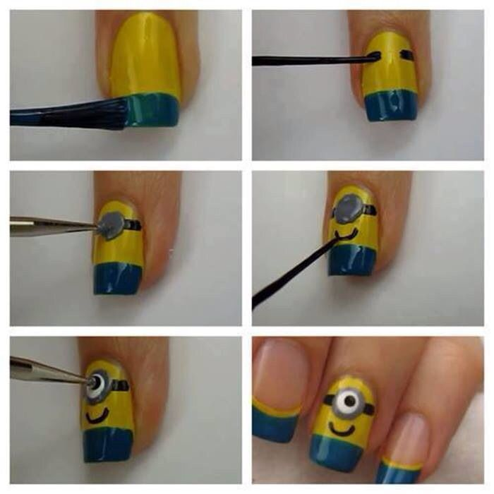 DIY Minion Nails