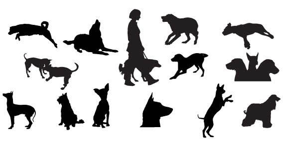Dog Silhouette Free Vector Art