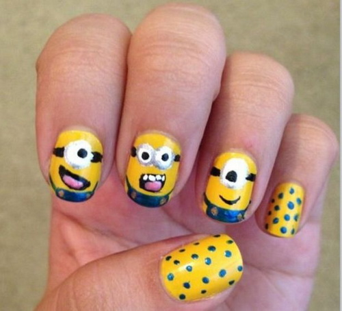 15 Easy Nail Designs Minions Images