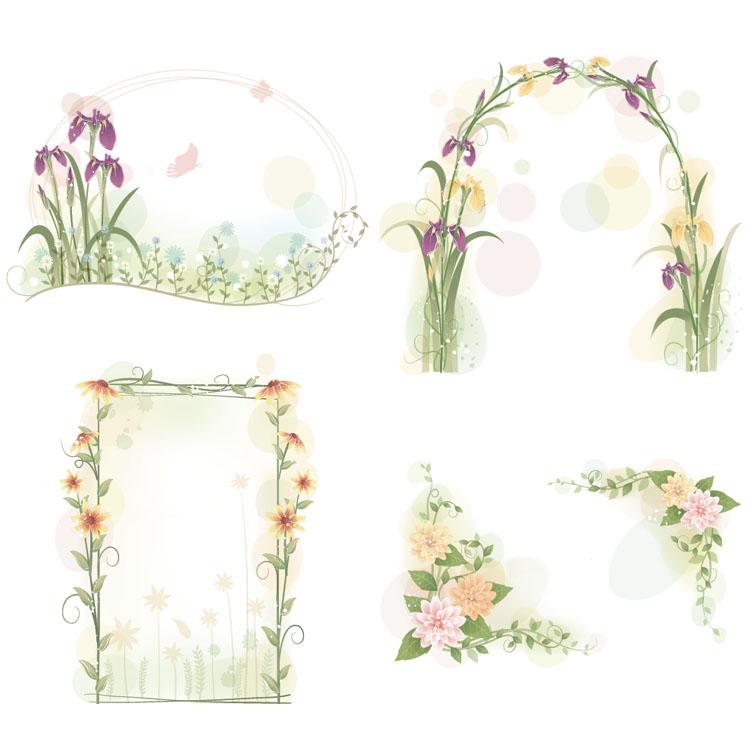 Elegant Flower Frames