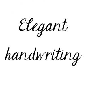 Elegant Script Fonts Cursive