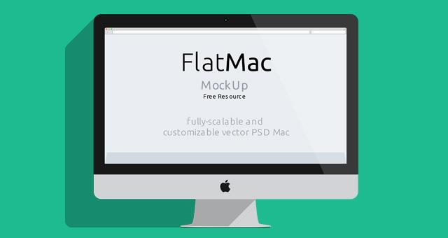 Flat iMac Mockup Vector