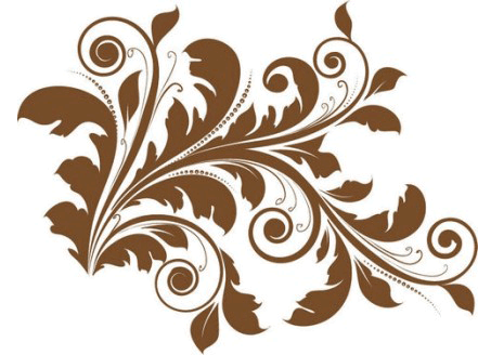 7 Mother's Decorative Swirl Vector Graphics Images