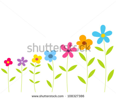 Flower Row Clip Art