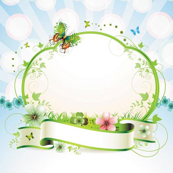 Flower Vector Floral Frame