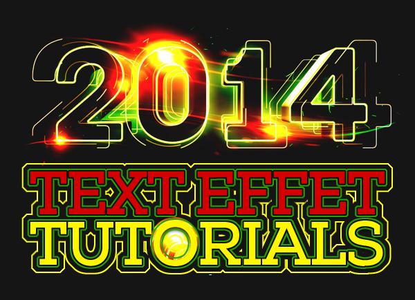 Free Adobe Photoshop Text Effects Tutorials