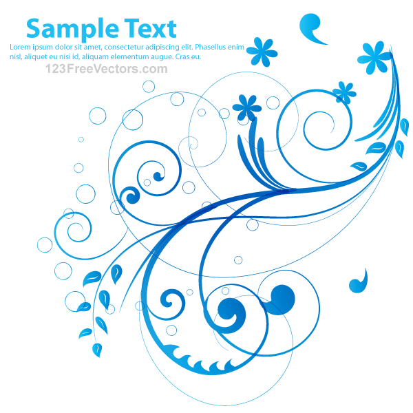Free Blue Vector Flower