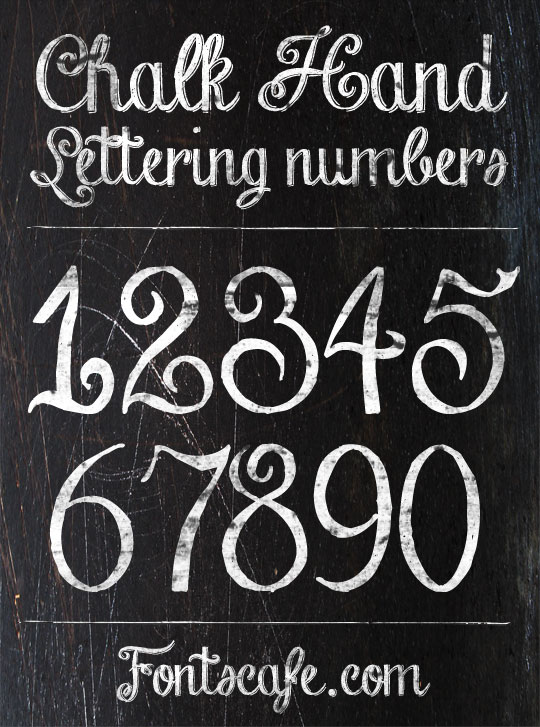 13 Chalkboard Numbers Font Images