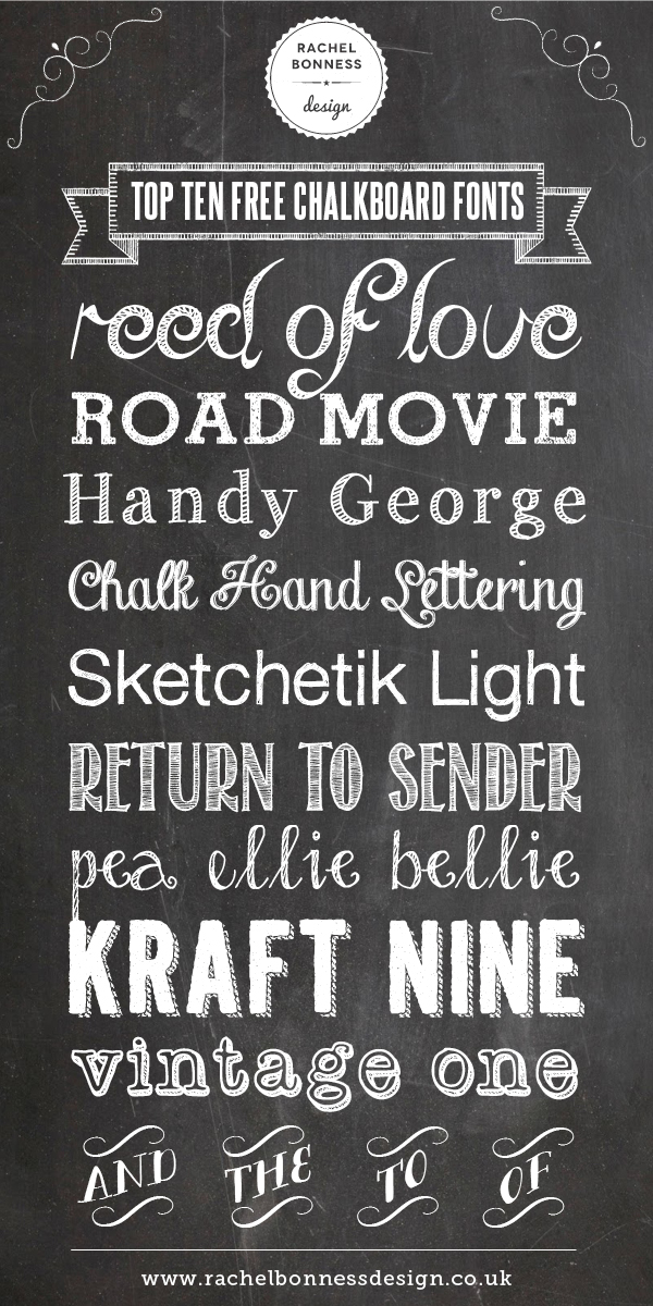 11 Free Chalkboard Fonts And Designs Images