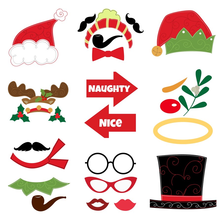 graphic about Christmas Photo Props Printable known as 15 Xmas Picture Booth Props Visuals - Xmas Occasion