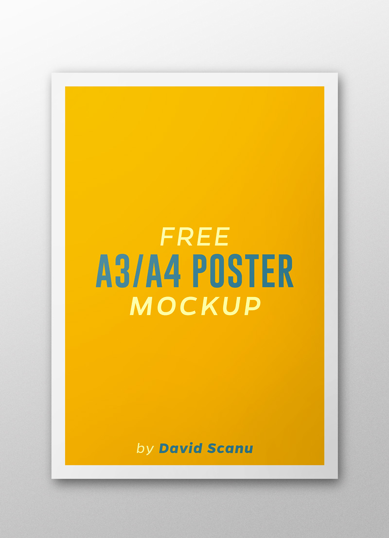 16 Stnading Flyer Template PSD Mock Up Images