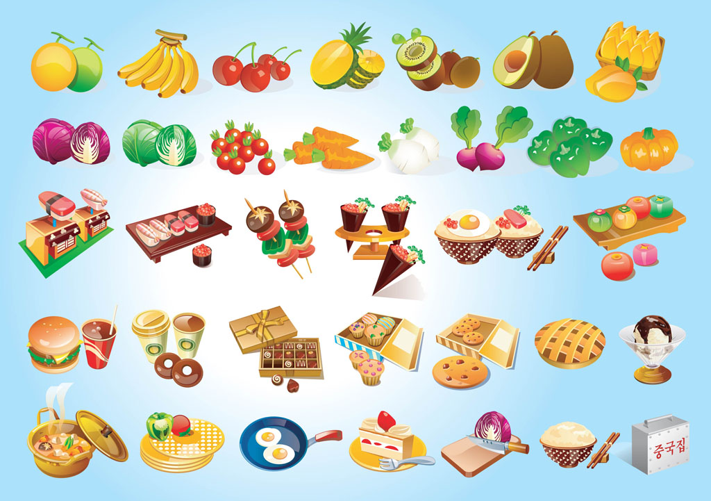17 Free Vector Food Graphics Images