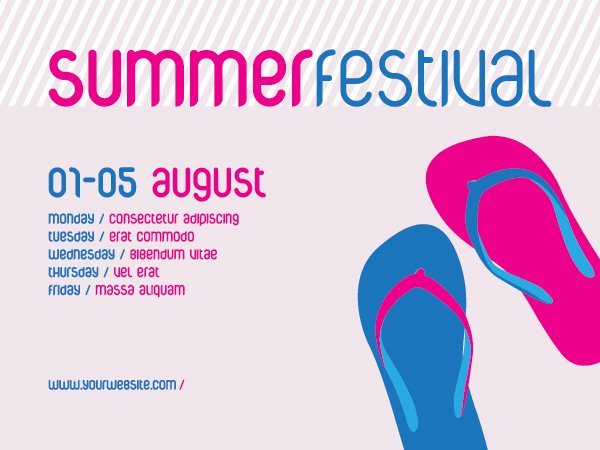 Free Images Summer Festival Graphic