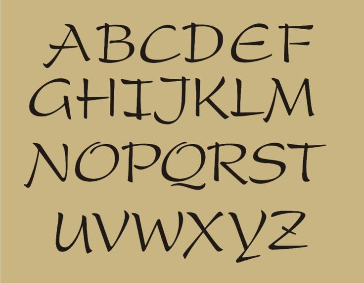 12 Primitive Fonts And Designs Images